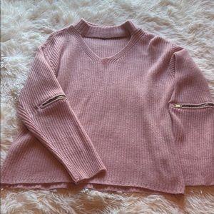 CR pink sweater